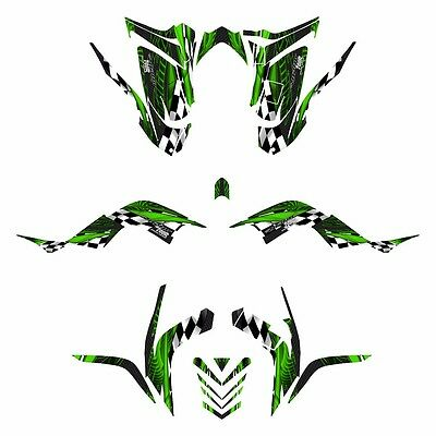 2006 - 2012 Raptor 700 graphics full coverage Yamaha decal kit #3500 Green