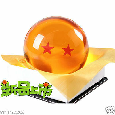 "Dragon Ball DragonBall Z Crystal Ball 2 Stars Diameter 3""/7.5cm Ball New in Box"