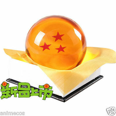 "Dragon Ball DragonBall Z Crystal Ball 3 Stars Diameter 3""/7.5cm Ball New in Box"