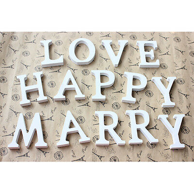 Cute Craft Wood Letters Bridal Wedding Party Birthday Toys Home Decorations