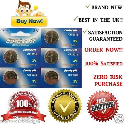 5 x CR2032 Lithium Cell Button 3v Batteries local UK- Eunicell- Best in Market!!
