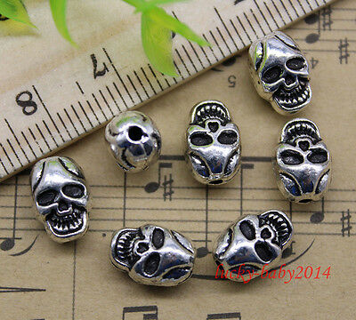 20/60/100pcs retro Jewelry Making DIY ghost skull alloy charms Beads 11 x 8 mm