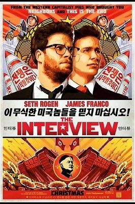The Interview (Seth Rogen and James Franco) Movie Poster - Christmas version