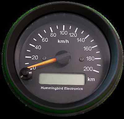 Analog GPS Speedometer - Black face - 200km/h max - Magnetic antenna