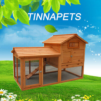 Rabbit Hutch X-LARGE 150*85*101CM Guinea Pig House Ferret Coop Run Cage P030
