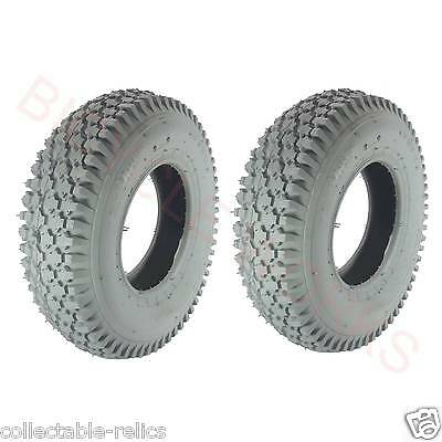 2X Tyres 4.10 3.50-6 4 Ply Grey Wheelchair Gopher Electric Mobility Scooter 937