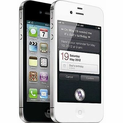 Apple iPhone 4s - 16GB GSM AT&T Locked Smartphone in White or Black