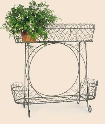 Victorian Style Wire Plant Stand ~ Country/Primitive Farmhouse/Cottage Decor