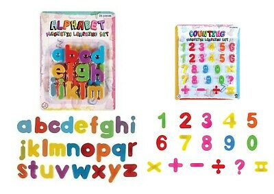 OFFER Magnetic Learning Numbers and Letters Toy Fridge Magnetic Maths Alphabet
