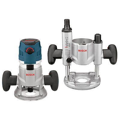 Bosch Tools 2.3 HP VS Combination Plunge & Fixed-Base Router Pack MRC23EVSK New