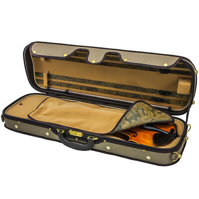 NEW SKY Acoustic Electric Violin Fiddle Luxury Oblong Case Best Solid Wood 4/4
