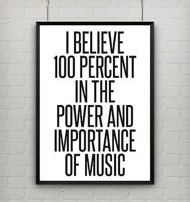 Motivational inspirational quote music life poster picture print wall art 071
