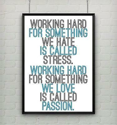 Motivational inspirational quote positive life poster picture print wall art 075