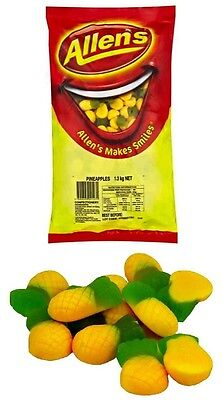Allens Pineapples 1.3kg Bag Candy Buffet Lollies Sweets Treats Party Favors
