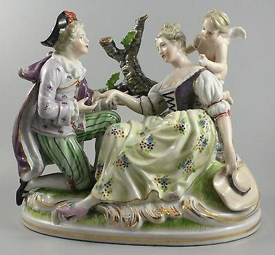 Occupied Japan Maruyama figurine Lovers with Cherub WorldWide
