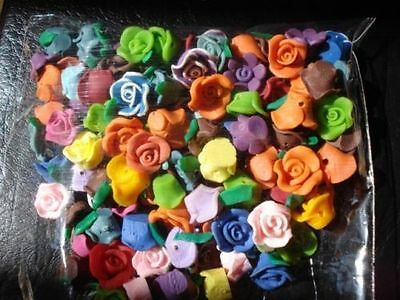 Wholesale 50/100/150/200/500pcs Flower Clay beads Spacer Jewelry Making