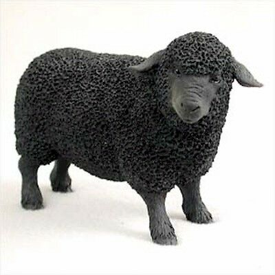 Realistic Hand Painted Cold Cast Stone Resin Black Sheep Display Figurine