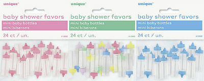 Baby Shower 24 Pack Mini Baby Bottles Favours Favors Novelty Table Decorations