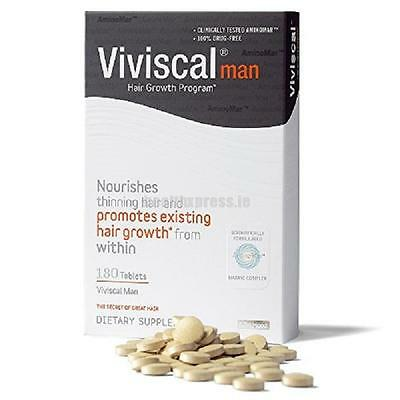 Viviscal Man Hair Growth Programme 3 Month Value Pack - 180 tablets
