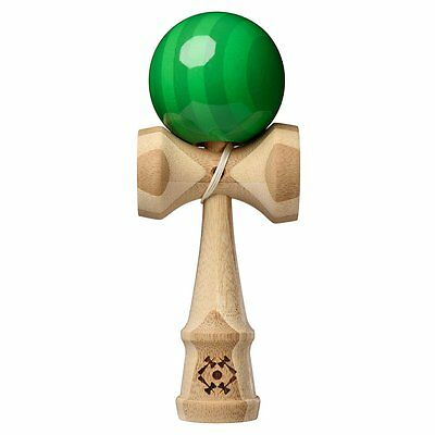 Kendama USA - Classic Wooden Skill Toy -Tribute Bamboo - Green Tint - TRB562