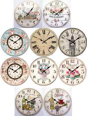 Retro Vintage Shabby Chic French Kitchen / Home Wall Clock.new + Box 10 Designs