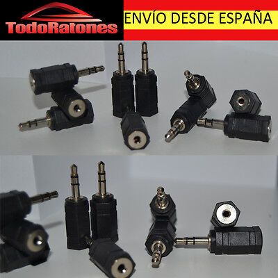 Cable ADAPTADOR de audio FINO A GORDO MINIJACK MACHO 3,5 mm JACK HEMBRA 2,5 mm
