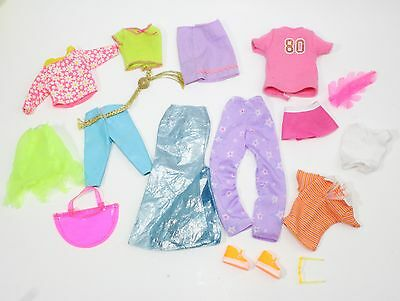 Mixed Lot Of 15 Barbie Clothes Small, Big Different Size Dolls Clothes Plus