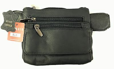New Unisex Genuine Leather Waist  Money Belt, Fanny Pack, Travel Pouch