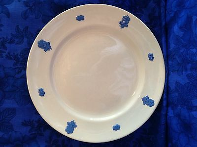 Adams China Victorian Ware White Blue Floral Cameo Dinner Plate