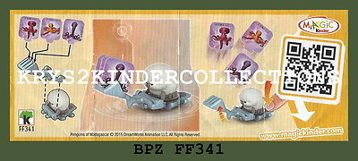 BPZ kinder Penguins de Madagascar FF341 France 2014