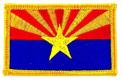 Patch écusson brodé Drapeau ARIZONA  Thermocollant USA AMERICAIN ETATS UNIS
