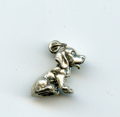 Sterling silver SHAR PEI 3D Dog Charm10X18mm apx 1 Grams