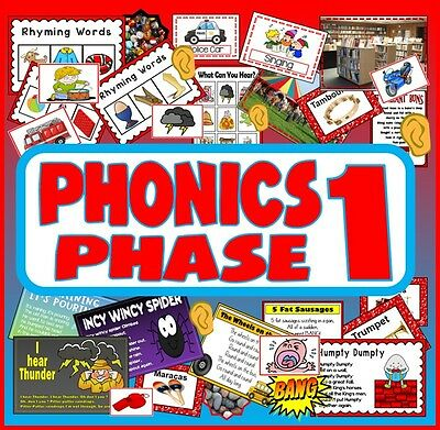 CD PHONICS PHASE 1 TEACHING RESOURCES LETTERS AND SOUNDS LITERACY ALPHABET EYFS
