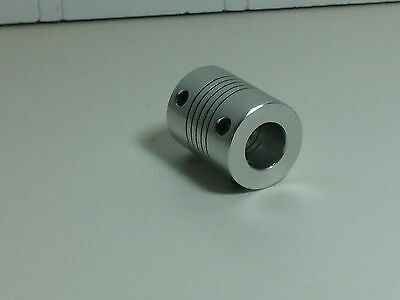 "6.35 mm x 10 mm 1/4"" Flexible Shaft Coupler Linear Motion CNC 3d Printer"