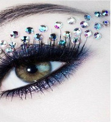 Strass Eye patch Stickers autocollant décoration Yeux Mask Masque Bijoux