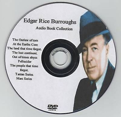 Huge Edgar Rice Burroughs 31 Audio Book Collection MP3 DVD Tarzan Mars 116hrs