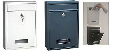 Post Box Heavy Duty Galvanized Steel Lockable Secure Mail Letter Mailbox Postbox