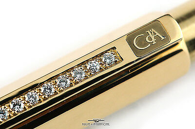 Caran d'Ache Solid 750 Gold and Diamond Hexagonal Ballpoint - Extremely Rare!