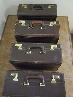 Korchmar Brown LEATHER VINTAGE Attache Briefcase Lawyer Pilot Physician Sales