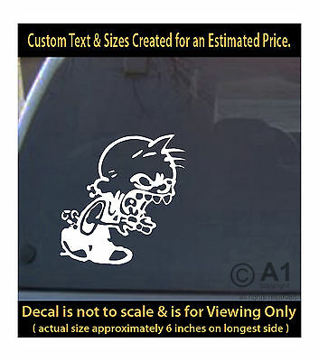 Zombie boy angry 6 inch vinyl decal for car truck home race  laptop more sp3_216