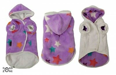 LUXUS Hunde Bademantel STAR PURPLE dogszone