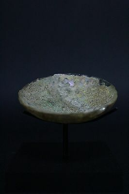 Roman Cosmetic Glass Plate Ca. 1St-2Nd Century A.d.