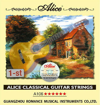 10pcs Alice .0285 inch Clear Nylon First Classical Guitar Strings E Single 1st