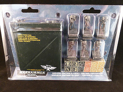 40K Limited Edition Munitorum Vehicle Markers Dice + Lasgun Tin Case Set