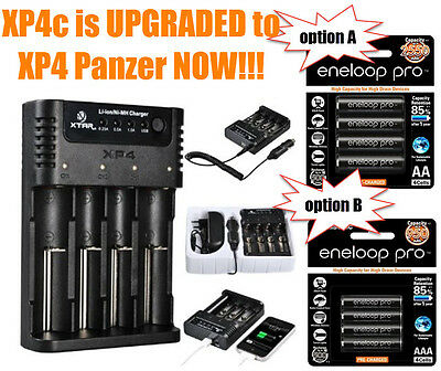 "Panasonic Eneloop Pro ""AA"" / ""AAA"" +XTAR XP4 Charger w/ battery repair function"