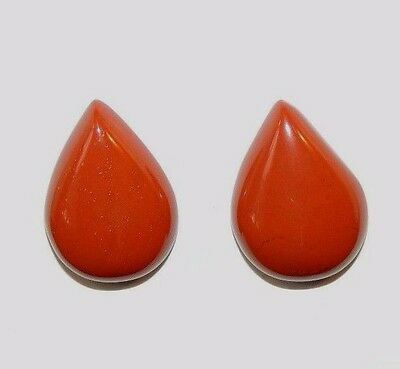 Red Jasper Cabochons 13x18mm with 5mm dome set of 2 (8718)