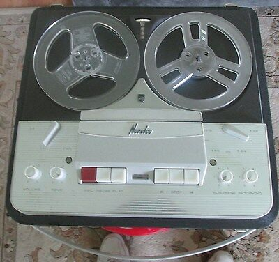 Vintage Norelco Reel to Reel Tape Recorder Made In Holland;  Looks Great