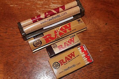 RAW ROLLING RYO   King Size Slim Papers+110mm Roller+50 TIPS and MATCHES
