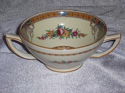 ANTIQUE MYOTT THE HOLLYHOCK OPEN SUGAR BOWL ENAMELED ENGLAND MINT CONDITION