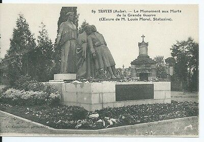 CPA-10- TROYES - Le Monument aux Morts